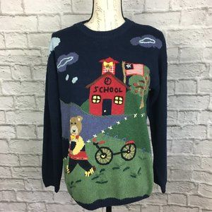 Crystal-Kobe Schoolhouse Sweater with Bell Size M